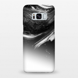 Galaxy S8+  BW 5 by Ashley Camille (black,white,black and white,white and black,abstract,paint,grey,gray)