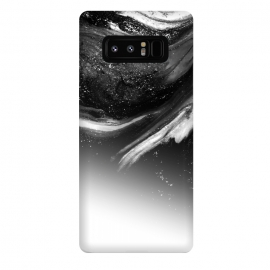 Galaxy Note 8  BW 5 by Ashley Camille (black,white,black and white,white and black,abstract,paint,grey,gray)