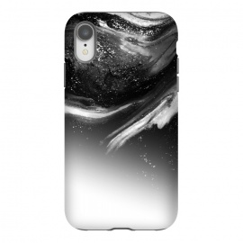 iPhone Xr  BW 5 by Ashley Camille (black,white,black and white,white and black,abstract,paint,grey,gray)
