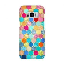 Galaxy S8  Patterned Honeycomb Patchwork in Jewel Colors by Micklyn Le Feuvre