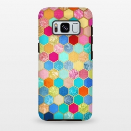 Galaxy S8+  Patterned Honeycomb Patchwork in Jewel Colors by Micklyn Le Feuvre