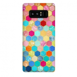 Galaxy Note 8  Patterned Honeycomb Patchwork in Jewel Colors by Micklyn Le Feuvre