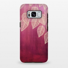 Galaxy S8+  Magenta Garden in watercolor and ink by Micklyn Le Feuvre