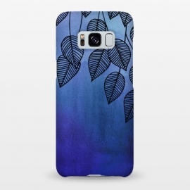 Galaxy S8+  Midnight Garden in Watercolor and Ink by Micklyn Le Feuvre