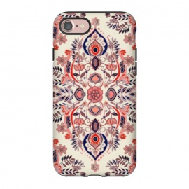 iPhone 8/7  Modern Folk in Coral Red and Indigo by Micklyn Le Feuvre