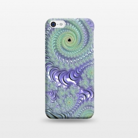 iPhone 5C  Teal And Purple Fractal Design by Andrea Haase