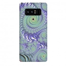 Galaxy Note 8  Teal And Purple Fractal Design by Andrea Haase
