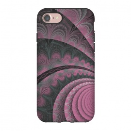 iPhone 8/7  Pink Fractal Design by Andrea Haase
