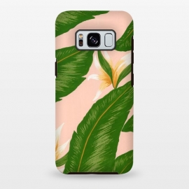 Pink Bird Of Paradise Jungle Floral Print by Becky Starsmore