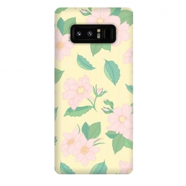 Galaxy Note 8  Yellow Pastel Floral Print by Becky Starsmore
