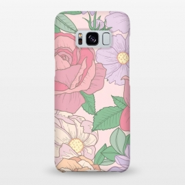 Galaxy S8+  Pink Summer Rose Floral Bouquet by Becky Starsmore