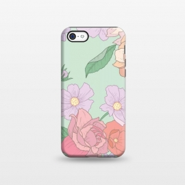 iPhone 5C  Green Floral Bouquet Print by Becky Starsmore