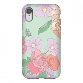 iPhone Xr  Green Floral Bouquet Print by Becky Starsmore