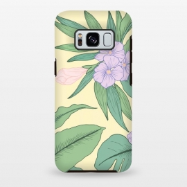 Galaxy S8+  Yellow Tropical Floral Print by Becky Starsmore