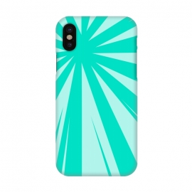 iPhone X  SEA GREEN LINES  by MALLIKA