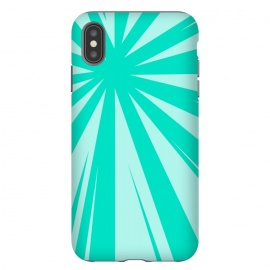 iPhone Xs Max  SEA GREEN LINES  by MALLIKA