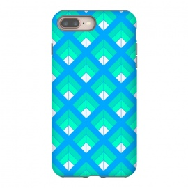 BLUE GREEN DIAMOND PATTERN by MALLIKA