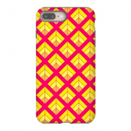 YELLOW RED DIAMOND PATTERN by MALLIKA