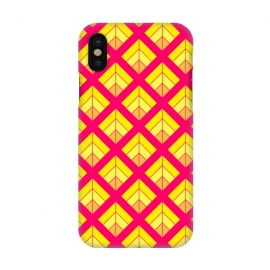iPhone X  YELLOW RED DIAMOND PATTERN by MALLIKA