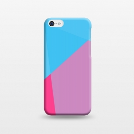iPhone 5C  ABSTRACT PATTERN BLUE PINK by MALLIKA