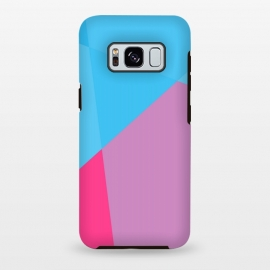 Galaxy S8 plus  ABSTRACT PATTERN BLUE PINK by