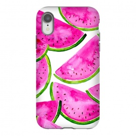 iPhone Xr  Summer Watermelon Print by Becky Starsmore