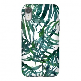 iPhone Xr  Tropical Vacation Palm Leaf Print by