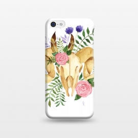 iPhone 5C  Bohemian Rams Skull by Becky Starsmore