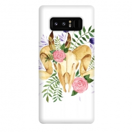 Galaxy Note 8  Bohemian Rams Skull by Becky Starsmore
