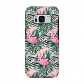 Galaxy S8  Pink Flamingo Vacation Print by Becky Starsmore