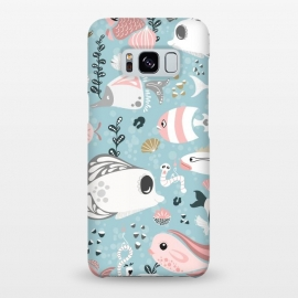 Galaxy S8+  Funny Fish in Pink and Grey by Paula Ohreen
