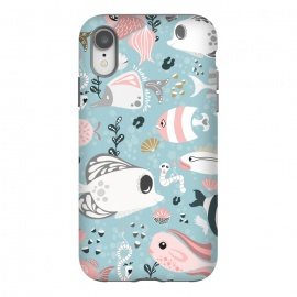 iPhone Xr  Funny Fish in Pink and Grey by Paula Ohreen