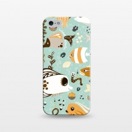 iPhone 5/5E/5s  Funny Fish in Orange and Brown by Paula Ohreen