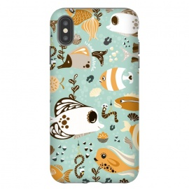 iPhone Xs Max  Funny Fish in Orange and Brown by Paula Ohreen