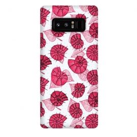 Galaxy Note 8  Pink Snails And LeavesPattern by Boriana Giormova