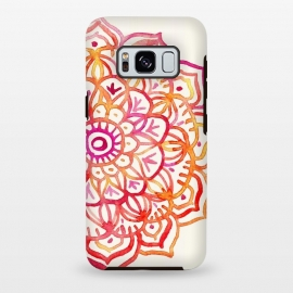 Galaxy S8+  Watercolor Mandala in Sunset Colors by Micklyn Le Feuvre