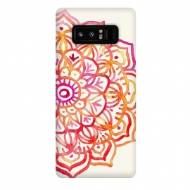 Galaxy Note 8  Watercolor Mandala in Sunset Colors by