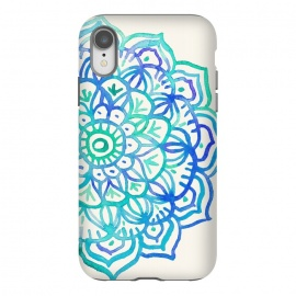 iPhone Xr  Watercolor Mandala in Ocean Colors by Micklyn Le Feuvre