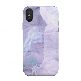 iPhone Xs / X  Pastel marbling I by Susanna Nousiainen (marblling,abstract,surface,purple,stone,stonelook,marble,marble look)