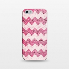 iPhone 5/5E/5s  Pink chevron by Jms