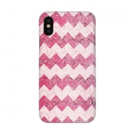 iPhone X  Pink chevron by Jms