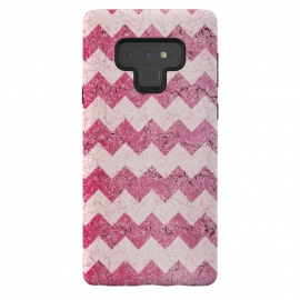 Galaxy Note 9  Pink chevron by