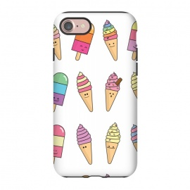 iPhone 8/7  Cute Happy Ice Cream Print by Becky Starsmore