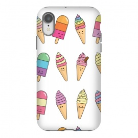 iPhone Xr  Cute Happy Ice Cream Print by Becky Starsmore
