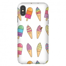 iPhone Xs Max  Cute Happy Ice Cream Print by Becky Starsmore