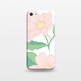 iPhone 5C  Pastel Pink Wildflowers by Becky Starsmore