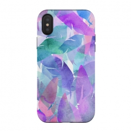 iPhone Xs / X  Watercolour Feather Print by
