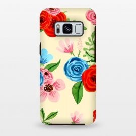 Galaxy S8 plus  Pastel Yellow Block Ditsy Floral by