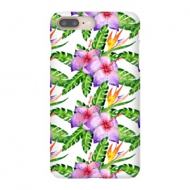 Tropical Jungle Floral Print by Becky Starsmore