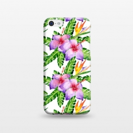 iPhone 5C  Tropical Jungle Floral Print by Becky Starsmore